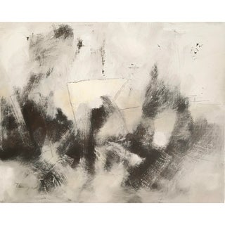 Ochre Contemporary Abstract Painting For Sale