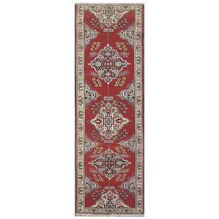 Vintage Persian Tabriz Rug - 2′9″ × 11′1″ For Sale