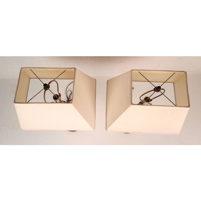 Mid-Century Modern Teak Table Lamps - a Pair For Sale - Image 4 of 6