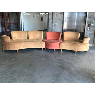 1990s Vintage Normand Couture Retro Modular 3 Piece Sectional Preview