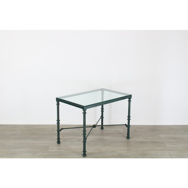 Diego Giacometti Style Iron Side Table, Metal Side Table For Sale - Image 4 of 7