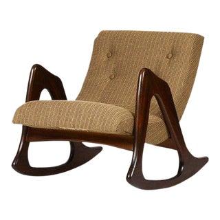 1960s Danish Modern Adrian Pearsall for Craft Associates Walnut Lounge Rocker For Sale