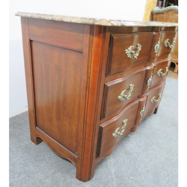 Hickory Chair Co. Louis XV Style Marbletop Chest For Sale In Philadelphia - Image 6 of 9