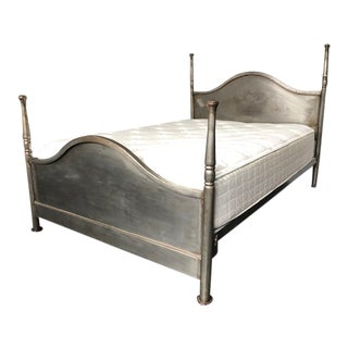 Vintage Metal Bed Frame With Head and Footboards For Sale