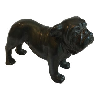 20th Century Figurative Bronze Bulldog Figurine For Sale