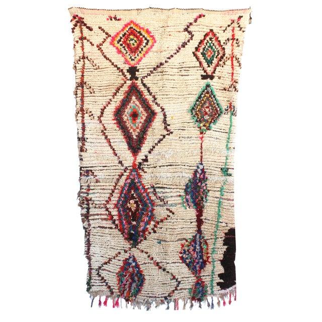 "Vintage Ourika Moroccan Berber Rug - 4'1"" X 7'8"" - Image 1 of 5"