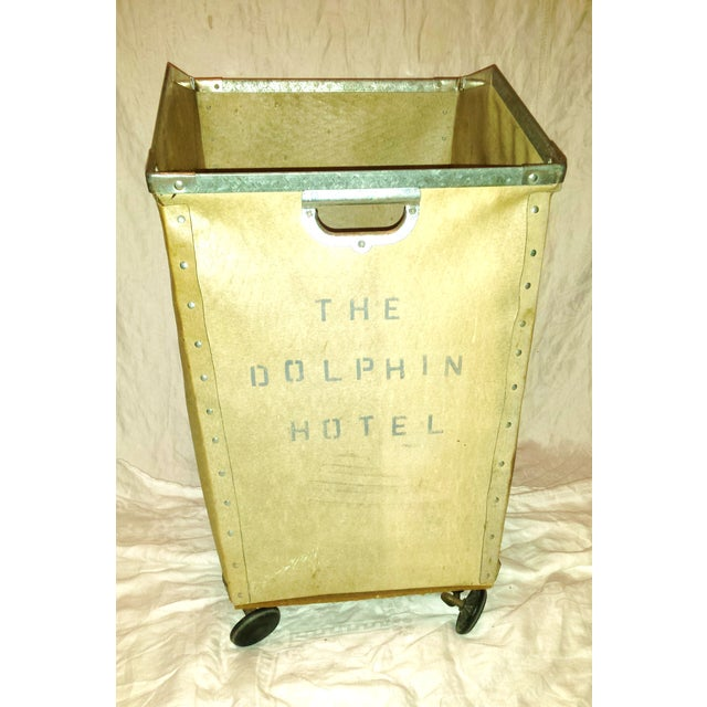 Dolphin Hotel 1960 Industrial Laundry Cart - Image 3 of 10