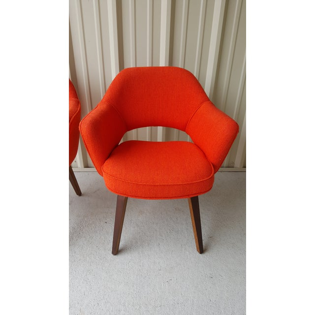 Mid 20th Century Vintage Saarinen Knoll Exectutive Chairs- a Pair For Sale - Image 5 of 13