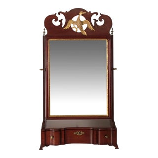 18th Century American Chippendale Mahogany Dressing or Shaving Mirror For Sale