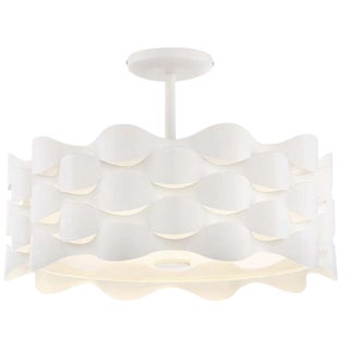Coastal Current Led Semi Flush Mount