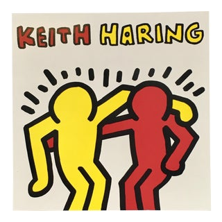1991 Pop Art Print of Keith Haring Announcement