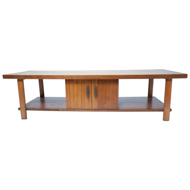 Lane Coffee Table with Sliding Door - Image 1 of 7
