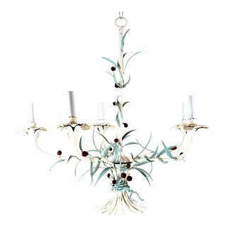 Italian Tole Chandelier For Sale