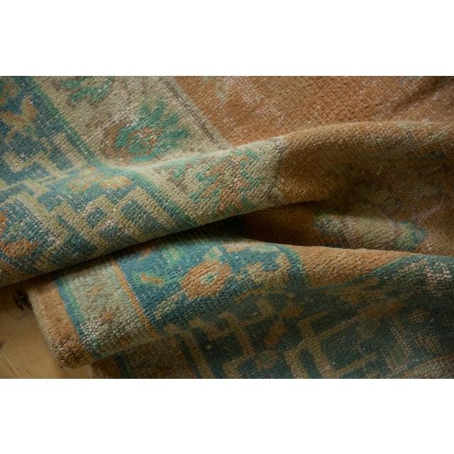 """Arts & Crafts Vintage Distressed Oushak Carpet - 6'2"""" X 9'8"""" For Sale - Image 3 of 13"""