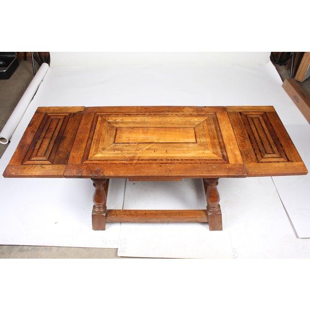 1920s Cherry Mahogany & Oak Coffee Table - Image 2 of 7