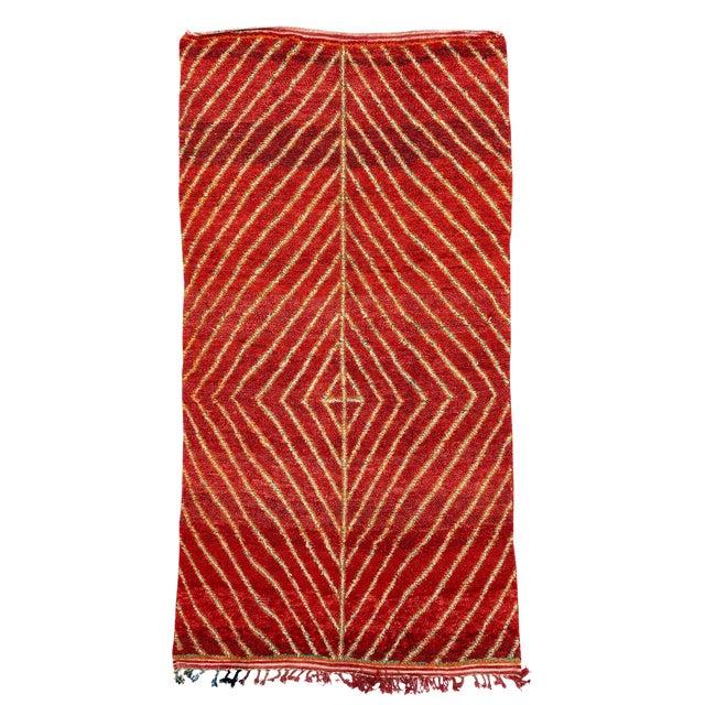 Vintage Azilal Handwoven Rug - 6′ × 11′10″ For Sale