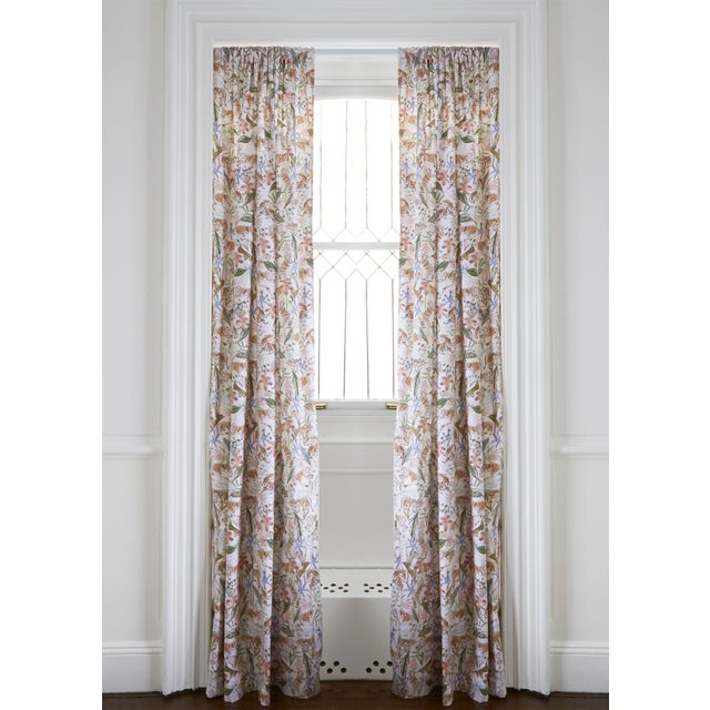 "Pepper Frida Pink 50"" x 108"" Curtains - 2 Panels For Sale - Image 4 of 4"