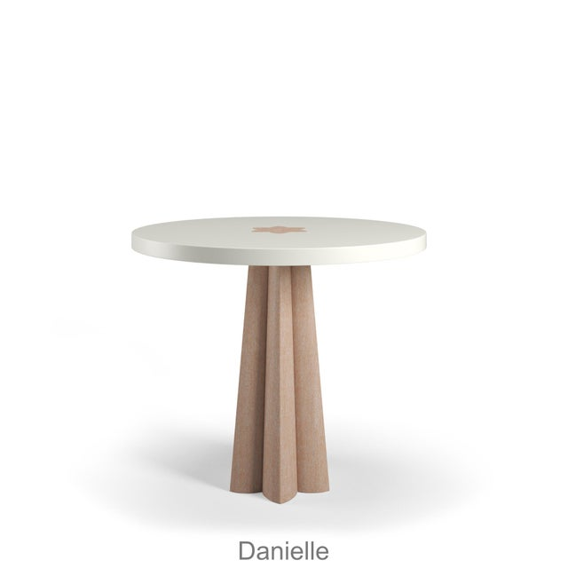 Danielle Side Table - Natural Cerused Oak - Simply White For Sale In Los Angeles - Image 6 of 6