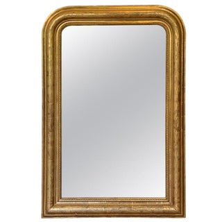Fine 19th Century Louis Philippe Giltwood Incised Decorated Mirror For Sale