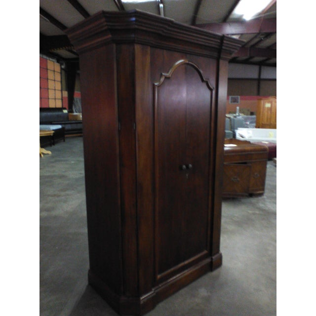 vintage long door armoire chairish. Black Bedroom Furniture Sets. Home Design Ideas