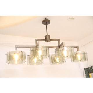 Large Rectangular Six Arms Glass Chandelier Preview