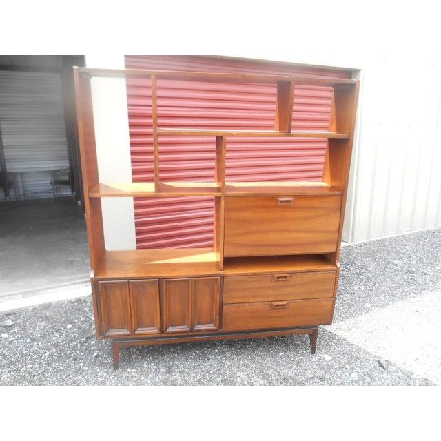 1960s Danish Modern Walnut Room Bookcase/Wall Cabinet - Image 2 of 5
