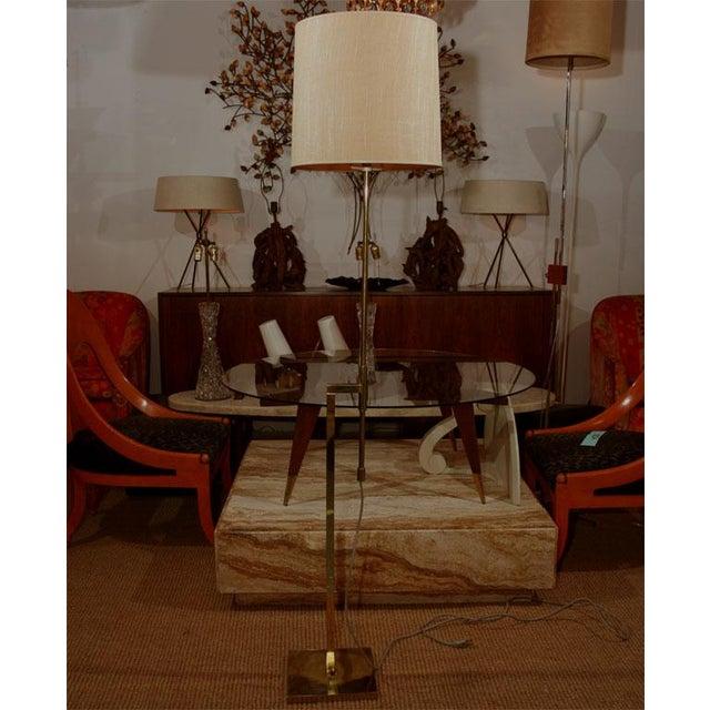 Brass Modernist Adjustable Floor Lamp by Laurel For Sale - Image 7 of 7
