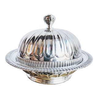 Early 19th Century Antique Tiffany & Co Silver Butter Dish For Sale