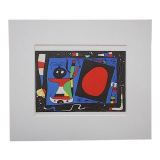 Vintage Joan Miro Abstract Lithograph For Sale