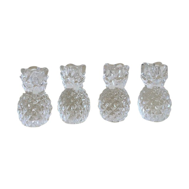 Vintage Crystal Pineapple Candle Holders- Set of 4 - Image 1 of 4