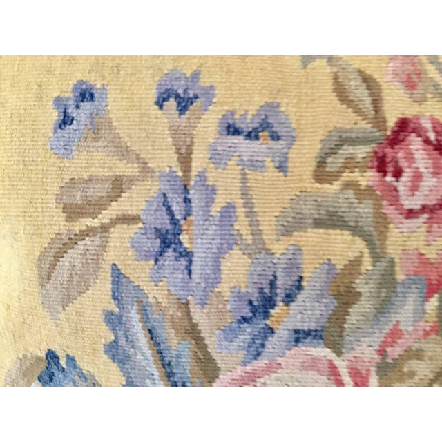 Aubusson Style Large Tapestry Decorative Pillow For Sale In Los Angeles - Image 6 of 13
