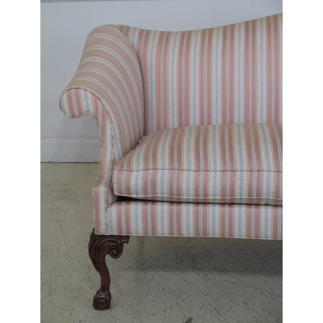 Item: SOUTHWOOD Ball & Claw Chippendale Upholstered Sofa Age: Approx: 10 Years Old Details: Solid Cherry Legs High Quality...