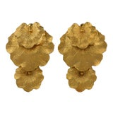 Image of Les Bernard Articulated Leaf Earrings For Sale