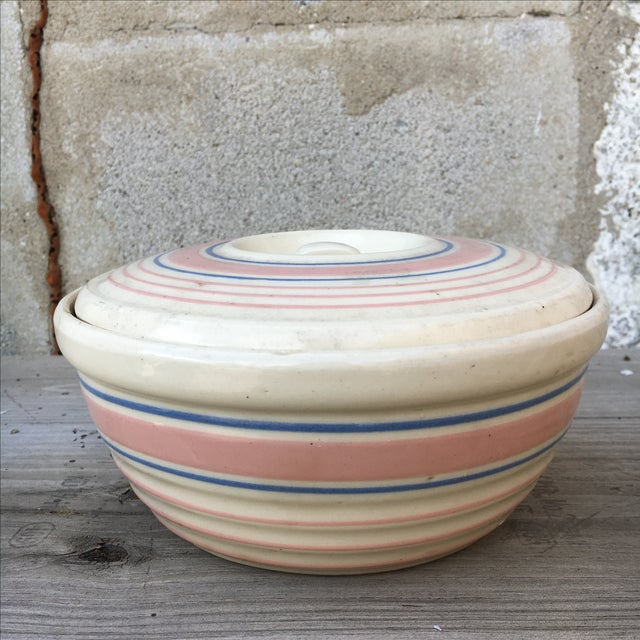 1940's Handmade Americana Mixing Bowl With Lid For Sale In Nashville - Image 6 of 8
