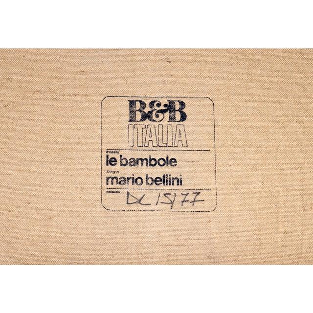 Tan 1970s Original Buffalo Leather Bambole Loveseat Sofa by Mario Bellini for B&b Italia For Sale - Image 8 of 9