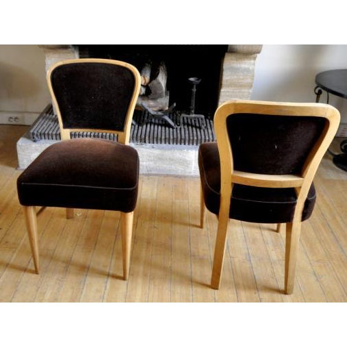"""Jean Royere Documented Pair of Chairs Model """"Restaurant Drouant"""" For Sale - Image 9 of 9"""