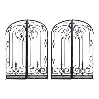 Palm Beach Wrought Iron Gates - A Pair