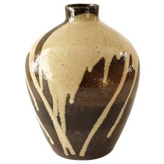 Brown Drip Glaze Studio Pottery Vase