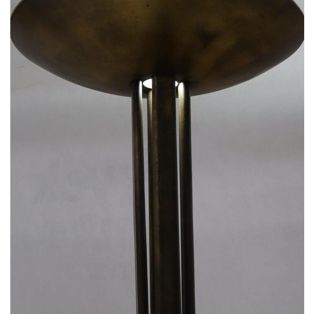 Mid-Century Modern Cross Base 68 Tall Metal Dish Shade Floor Lamp For Sale - Image 3 of 13