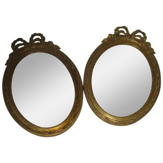 19th Century Napoleon III French Giltwood Mirrors - a Pair For Sale