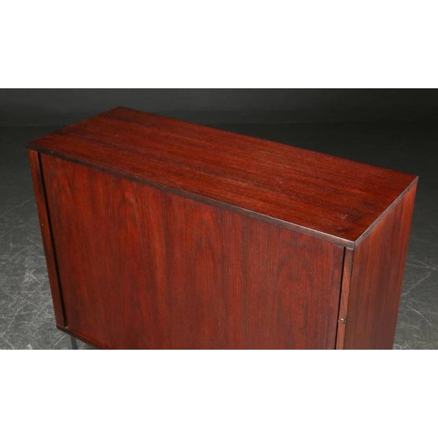 Danish Rosewood and Steel Cabinet, 1960s For Sale - Image 4 of 5