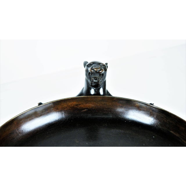 Bronze Patinated Bronze Centrepiece With Pumas, Munich Secession, 1920s For Sale - Image 7 of 9