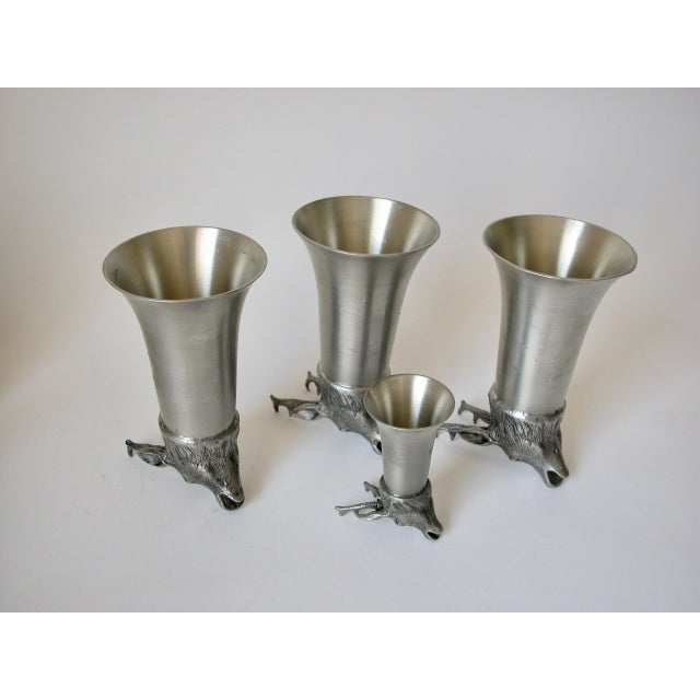 Stag Pewter Stirrup Cups - Set of 7 For Sale - Image 9 of 11