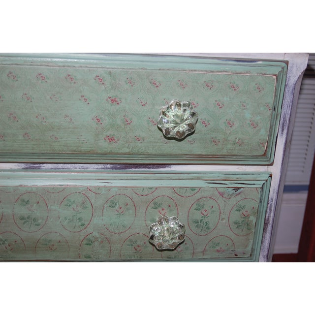 Vintage Shabby Chic Painted Green & White Dresser - Image 9 of 9
