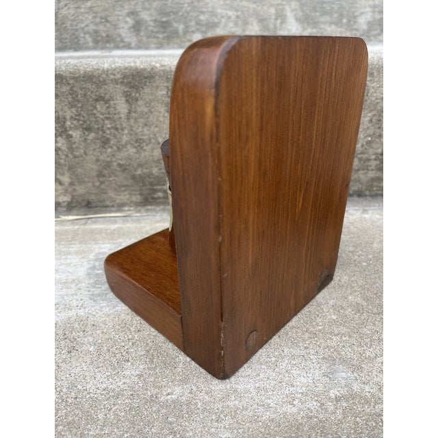 Brass & Walnut Golf Club Bookends For Sale - Image 10 of 11