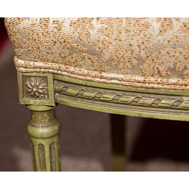 French Green Painted Side Chairs - Pair - Image 6 of 7