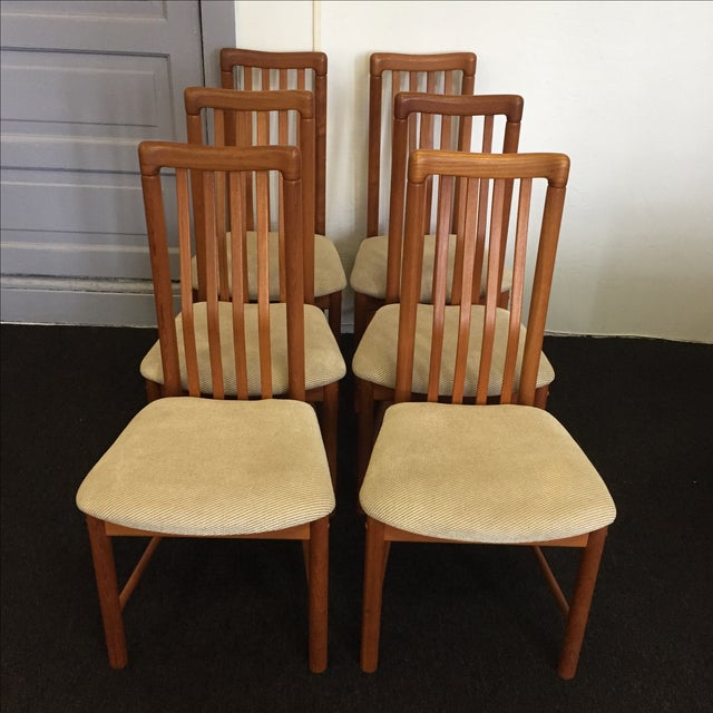 Teak Chairs by Benny Linden - Set of 6 - Image 2 of 11