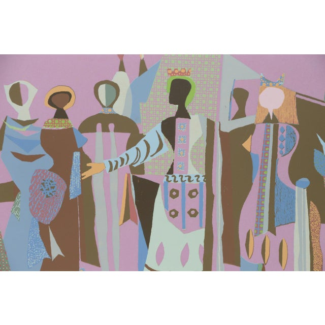 Mid Century Figural Abstract Lithograph by Jean Varda C.1950 For Sale In San Francisco - Image 6 of 8