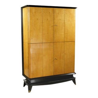 French Sycamore & Stained Fruitwood Cabinet For Sale