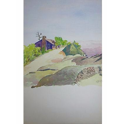 """Watercolor Painting - """"Small House Just Beyond"""" - Image 1 of 5"""